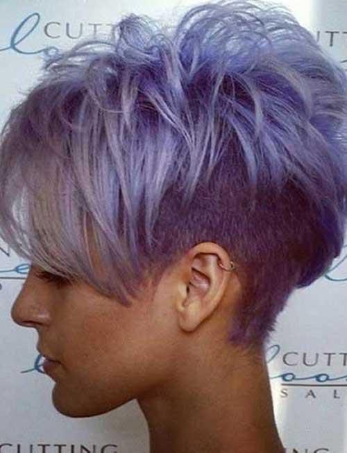 Cute Short Grey Purple Hair Ideas for Girls