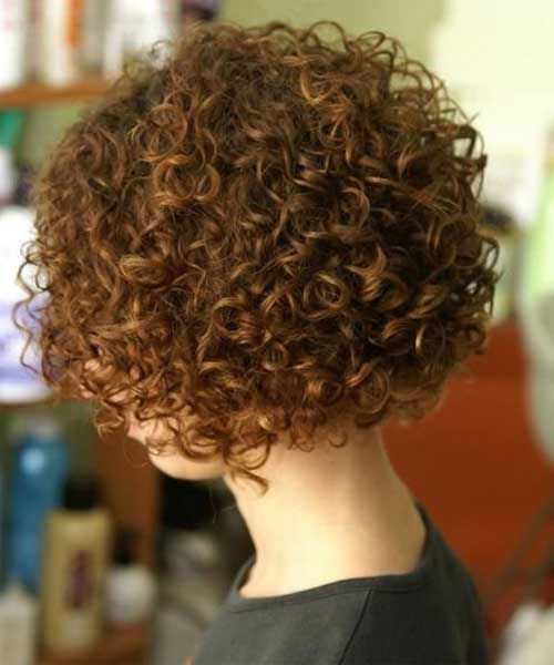 Cute Short Haircuts For Curly Hair Back