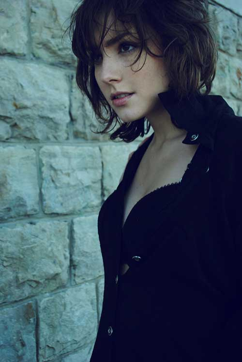 Cute Short Messy Bob Hair Cuts for Girls