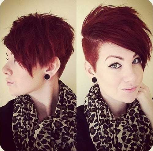Cute Short Red Pixie Hair Cuts for Girls
