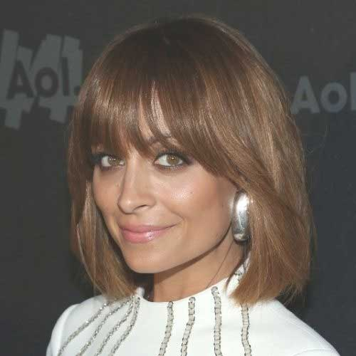 Dark Blonde Bob Hairstyles with Bangs
