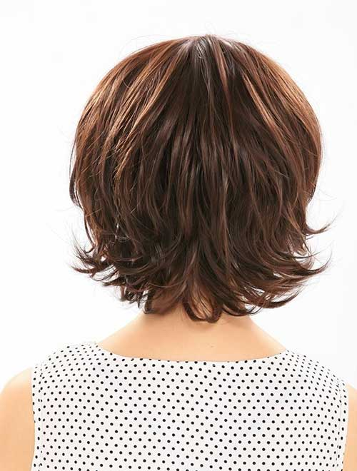 Fine Dark Bob Hairstyles Back