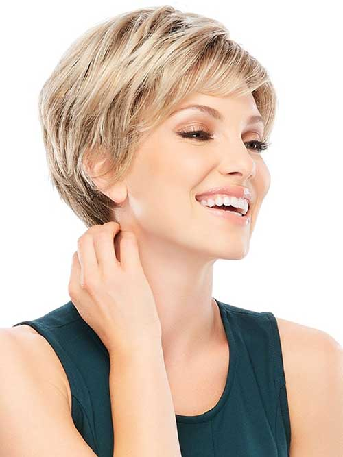 Fine Straight Pixie Haircut for Short Blonde Hair