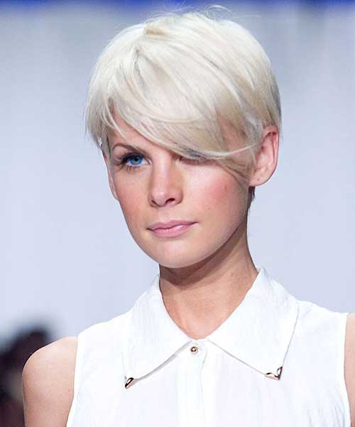 Fine Short Hair with Bleached Blonde Color