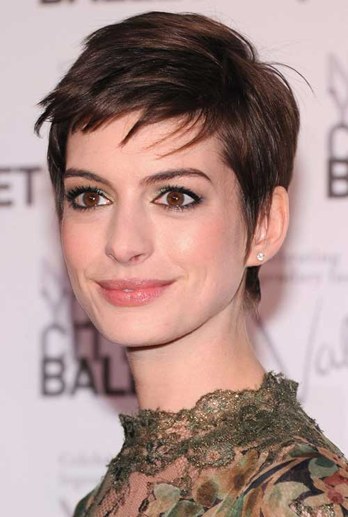 Best Short Haircuts Actresses : 20 best anne hathaway pixie cuts short hairstyles 2016 2017