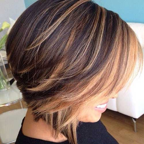 Highlighted Hair Short Cute Cut Ideas
