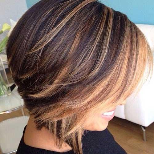 Highlighted Hair Short Cute Cut Ideas