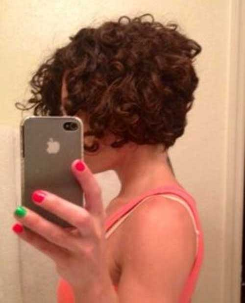 Inverted Bob Curly Short Hairstyles