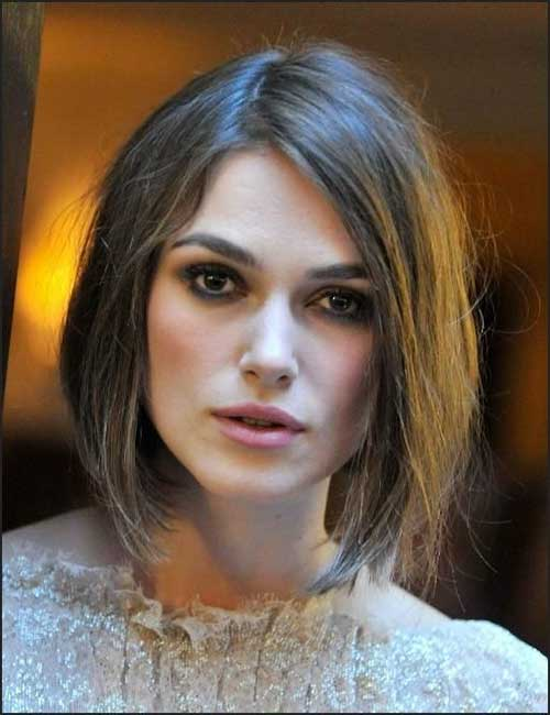 Inverted Bob Hairstyle 2015 on Keira Knightley