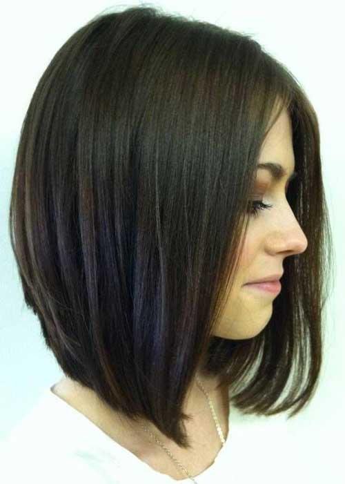 Inverted Bob for Dark Hair Styles