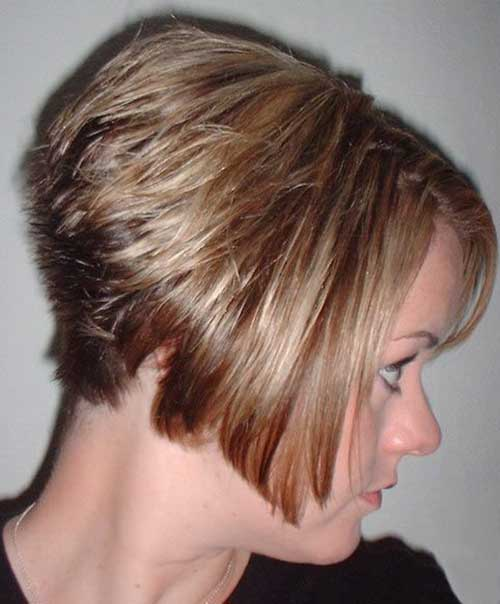 Short Stacked Bob Haircut Back View
