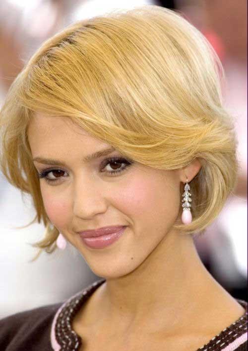 Jessica Alba Blonde Bob Cut