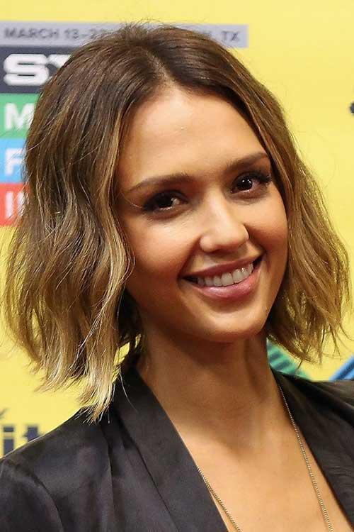 Jessica Alba Line Bob Hair