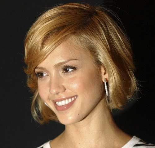 Jessica Alba Cute Bob Cuts