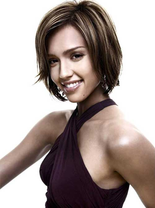 Jessica Alba Dark Bob Hair