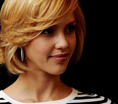 Jessica Alba Layered Bob Haircuts