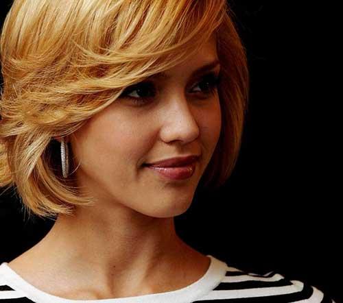 Jessica Alba Layered Bob Haircuts