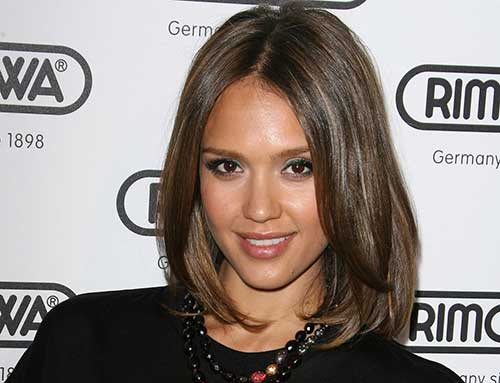 Jessica Alba Straight Bob Hair