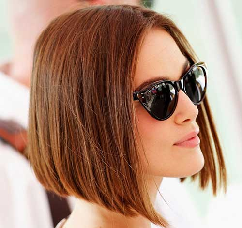 Keira Knightley Chesnut Bob Hairs