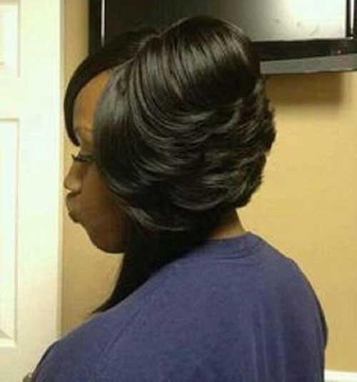 Layered Black Bob Hair