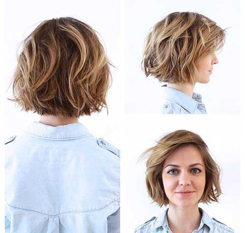 Outstanding 15 Nice Layered Wavy Bob Short Hairstyles 2016 2017 Most Hairstyles For Men Maxibearus