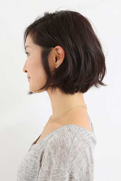 Layered Chin Length Casual Bob