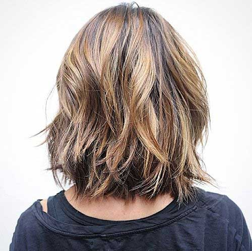 Layered Long Bob for Wavy Hair Style