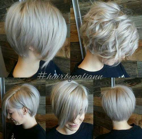 Layered Short Blonde Bob for Wavy Hairstyles