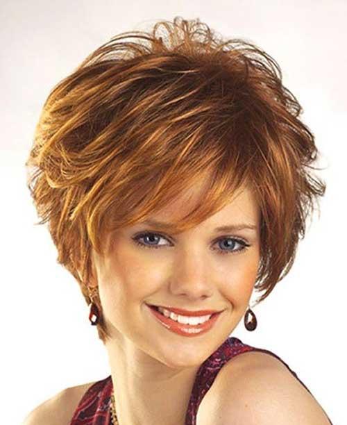 Layered Short Ginger Hair for Women Over 40
