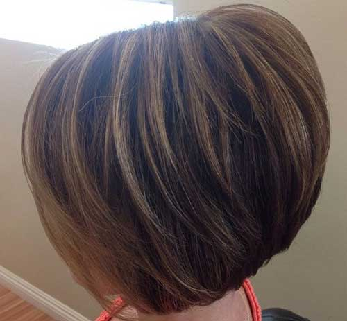 Layered Short Stacked Haircuts