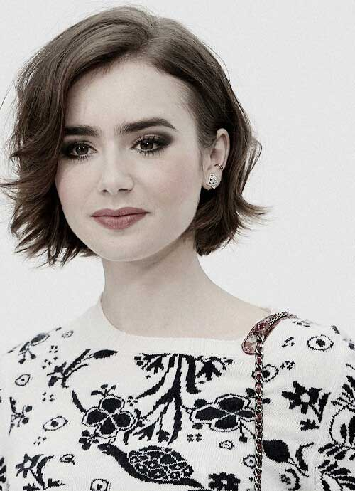 Best Lily Collins Short Hair