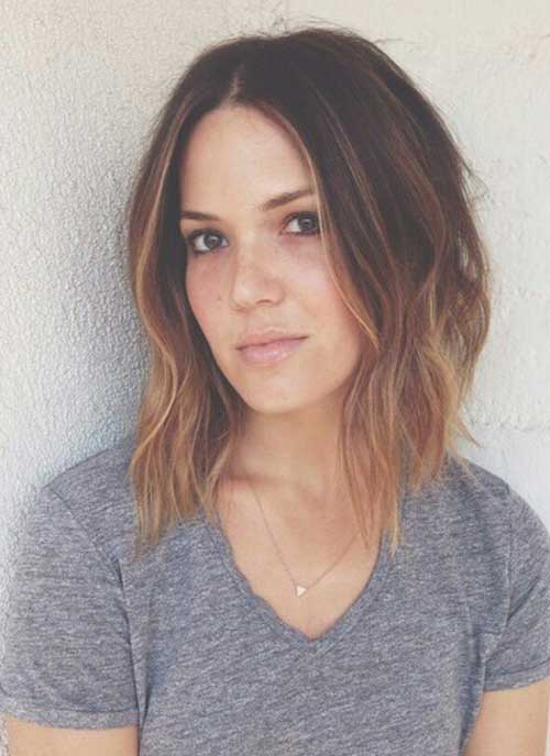 Long Inverted Bob Ombre Hair