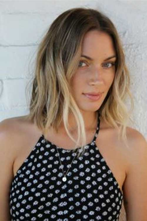 Long Bob Haircuts with Ombre Style