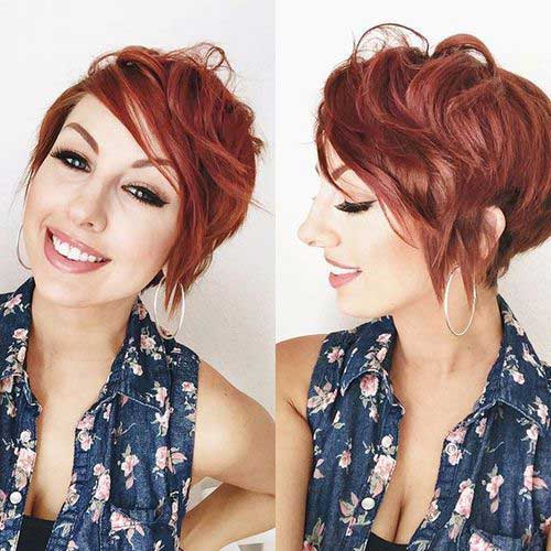 Long Red Pixie