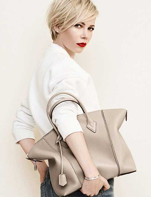 Michelle Williams Long Pixie Haircuts
