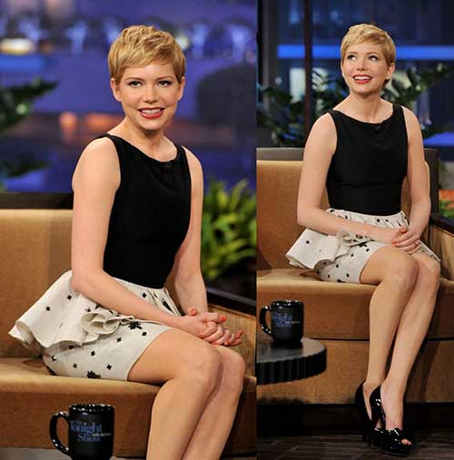 Michelle Williams Pixie Haircut Cute
