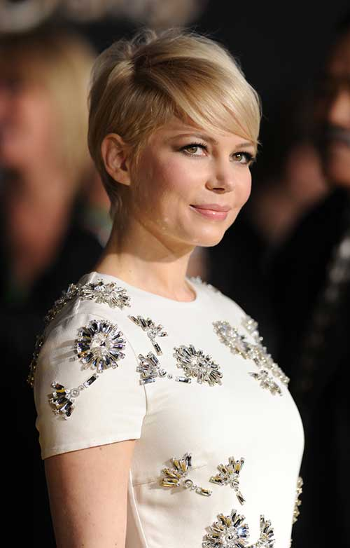 Michelle Williams Trendy Pixie Hair