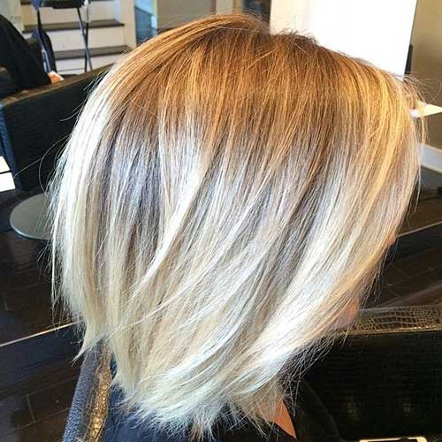 Ombre Bob Hairstyles Side View
