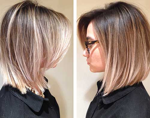 Ombre Hairstyles Long Bob