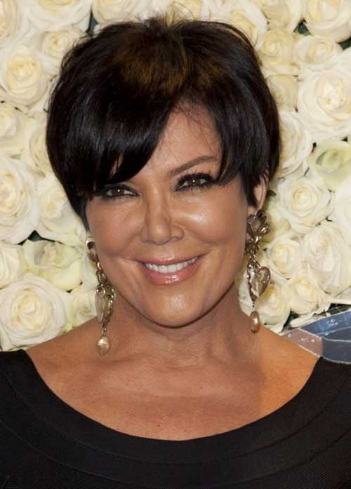 Pictures of Fine Pixie Dark Hair Over 50