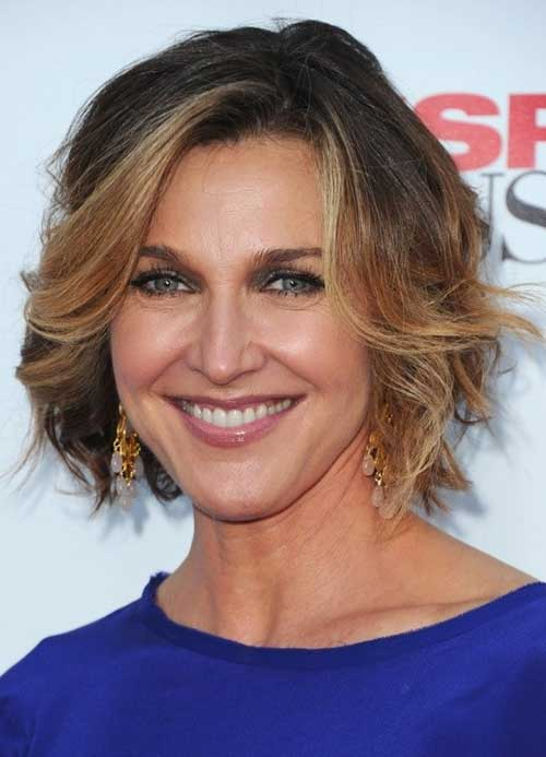 Pictures of Wavy Short Haircuts Over 50