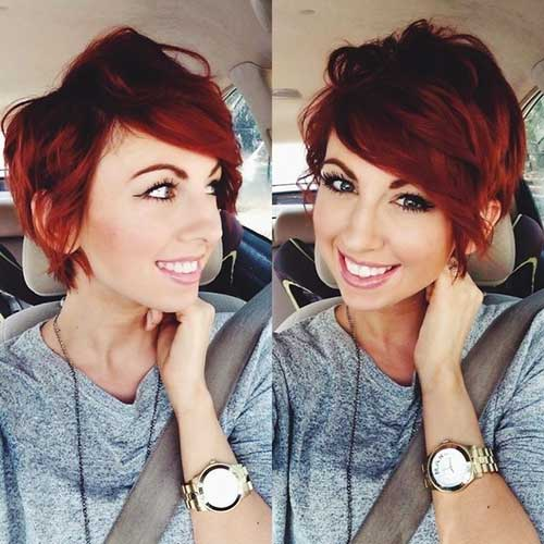 Red Pixie Short Cute Cuts