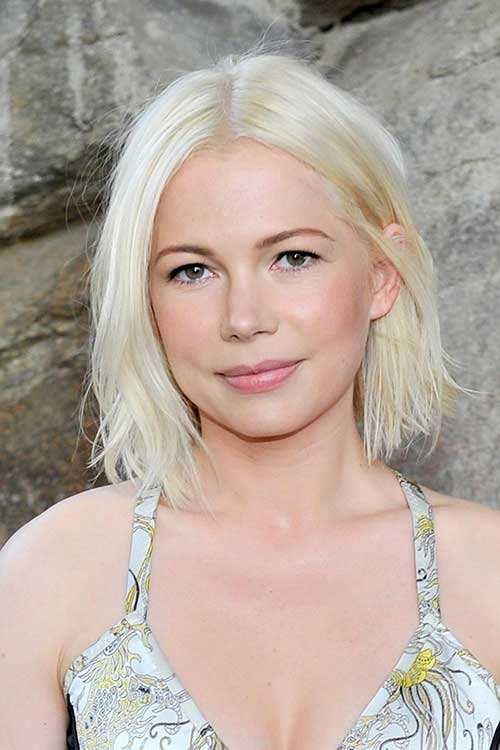 Short Bleached Blonde Bob Haircut Ideas