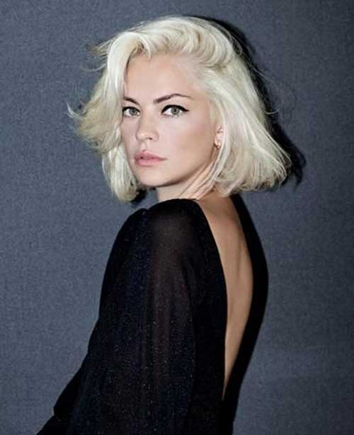 Short Bleached Blonde Cool Bob Idea