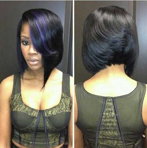 Asymmetrical Short Bob Cuts for Black Women