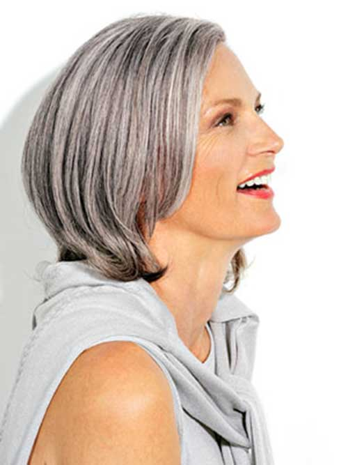 Short Bob Gray Haircuts Women