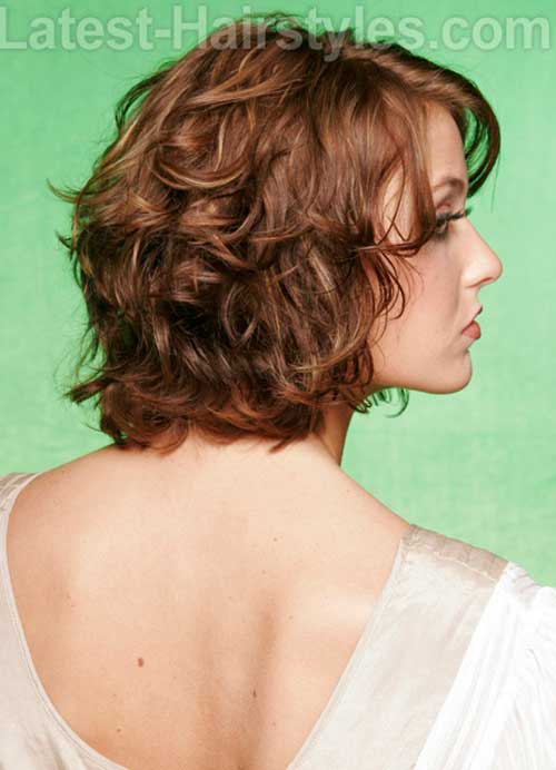 Short Bob for Layered Curly Hair