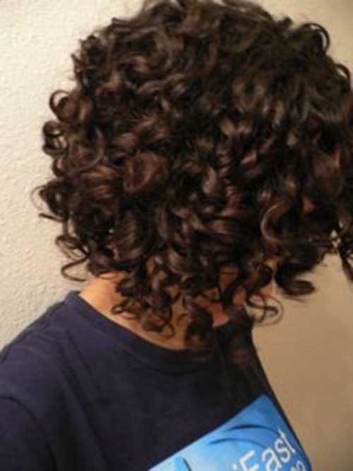 Short Bob Naturally Curly Haircuts