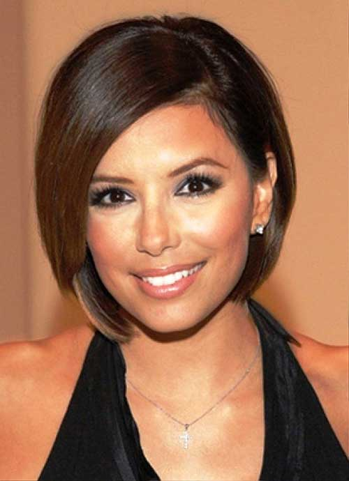 Short Bob Straight Hairstyle for Brunettes