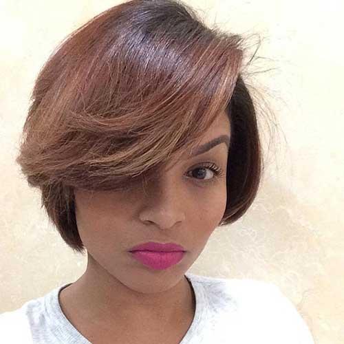 Brown Short Bob Style for Black Women
